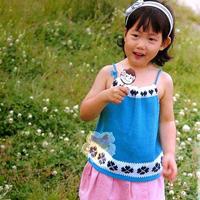 瓦登尔湖 好看实用女孩棒针夏季吊带衫