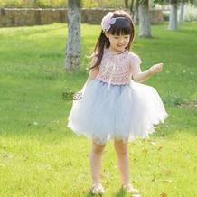 小公主蓬蓬裙 从上往下钩云帛Ⅱ钩针育克款儿童纱裙
