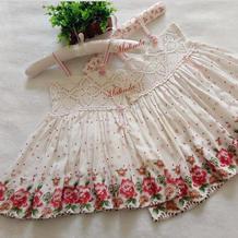 花朵朵 钩布结合萌萌儿童连衣裙编织教程