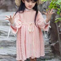 韩版宽松式儿童钩针公主裙编织视频教程
