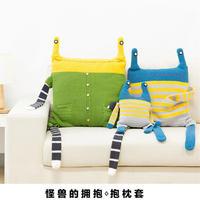 可以抱抱的小怪兽钩针抱枕枕套编织视频教程(2-1)