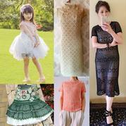 201722期周热门编织作品:10款女士儿童手工编织春夏服饰
