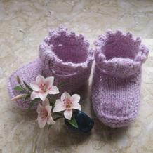 温暖呵护宝宝小脚丫棒针扣式保暖鞋袜