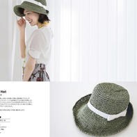 礼帽式时尚卷边女士钩针遮阳帽编织图解