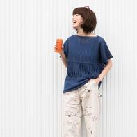 超实用的女士外钩内织两件套(棒针背心+网格流苏钩针罩衫)