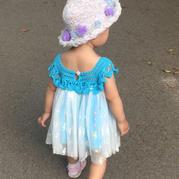 一天就可以完工的钩纱结合宝宝裙