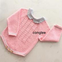 婴儿棒针小圆领包臀衣编织图解教程