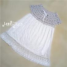 实用简单云帛Ⅱ儿童钩布结合小裙子 趣编织蓬裙育克款简易版