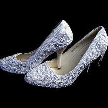 编织一款独一无二的高跟鞋 手工DIY优雅钩针蕾丝鞋