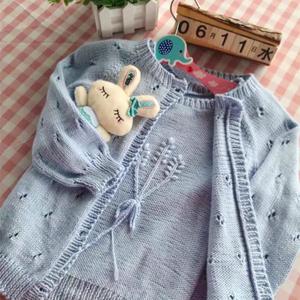 云朵棒针毛衣两件套 从上往下织开衫及肩开扣背心