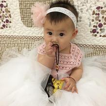 婴幼儿云帛Ⅱ钩针蓬蓬公主裙