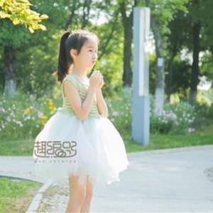小公主蓬蓬裙 前后两穿云帛Ⅱ从上往下钩插肩款公主裙