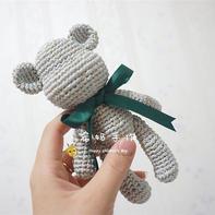 酷萌钩针暴力熊玩偶编织视频教程