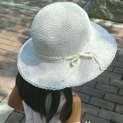 大人孩子都适合的棉草钩针太阳帽