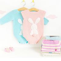 婴幼儿钩针插肩袖爬服编织视频教程(4-2)纯色款下