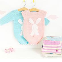 婴幼儿钩针插肩袖爬服编织视频教程(4-3)条纹款上