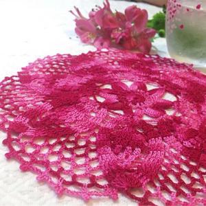 暖心小物件 彩色钩针蕾丝小桌垫