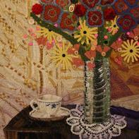 小物件大用途 通过毛线编织与绗缝、装饰组成的艺术品