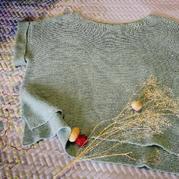 兄弟868机织云素麻棉简洁女士短袖套衫