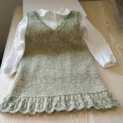 绿豆沙 简单好织女童棒针秋冬背心裙