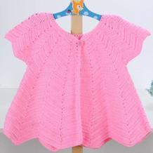 儿童钩针水浪花短袖开衫编织视频教程(2-2)