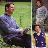 3款优雅绅士经典男士棒针毛衣(V领背心、V领毛衣及圆领毛衣)