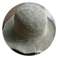 只要会钩短针就可以完成的儿童棉草帽