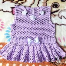 一天即可完成的仿淘宝款儿童钩针裙式背心