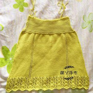织法简单的云朵棒针儿童吊带裙
