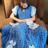 观影标配趣味毛线编织同款抱毯 迪士尼公主钩毯设计欣赏