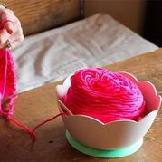 橡胶防滑防摔可便携的毛线碗 编织辅助工具