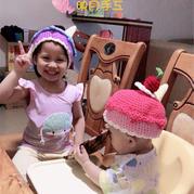 儿童钩针甜筒雪糕糖果系尖尖造型帽