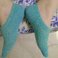 毛线编织棒针浅口袜的织法教程