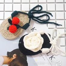 漂亮宝宝双层鞋底夹指绑带小凉鞋编织视频(2-1)山茶花款