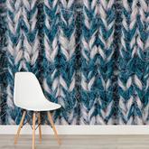 室内墙面装饰还可以这样 将毛衣织到整面墙