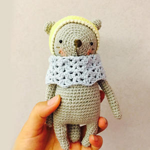 可以化解烦恼的钩针可爱宝宝熊