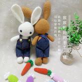 钩针背带裤小兔子玩偶系列视频教程(5-4)钩针糖果