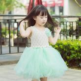 云素麻棉儿童棒针背心款公主蓬蓬裙编织视频教程