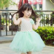 云素麻棉儿童棒针背心款公主蓬蓬裙U乐娱乐youle88视频教程