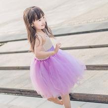 云素麻棉儿童棒针吊带公主蓬蓬裙编织视频教程