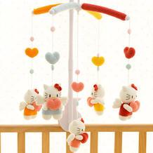 送宝贝的第一份礼物 毛编编织钩针婴儿床铃编织视频教程(KITTY猫款)
