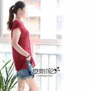 夏季清凉女士棒针镂空套衫
