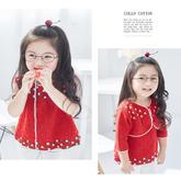 儿童棒针春秋套裙编织视频教程(3-3)宝宝短款开衫织法
