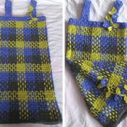 制作方法其实很简单的经典格纹花样毛线裙 2种趣味钩编小技巧