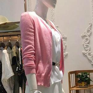 48支羊毛2股织女士棒针羊毛开衫