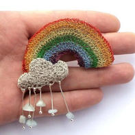 织针与金属丝打造的幻想世界 手工编织彩色金属丝饰品