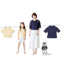 夏季钩织结合蕾丝棉亲子短袖图解