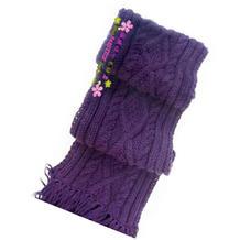 经典棒针菱形花样围巾编织视频教程