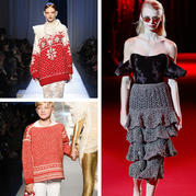 转换思路就会有不一样的效果 2017时装周品牌毛衣款式选集