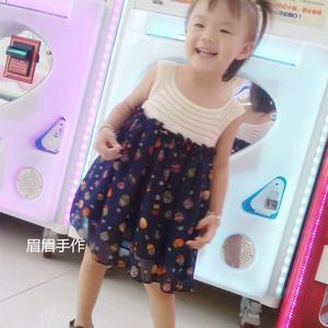 漂亮的儿童钩布结合娃娃裙